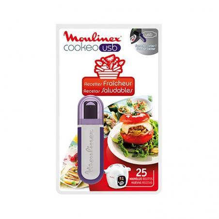 Clé USB Cookéo 25 recettes FRAICHEUR  Moulinex  XA600511