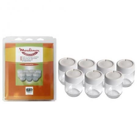 7 pots complets en verre pour yaourtière Moulinex A14A03