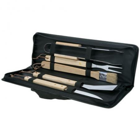 Coffret de 5 ustensiles avec manche en bois pour barbecue Electrolux 50291110000