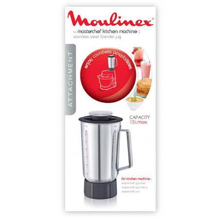 Bol Blender inox robot Masterchef Gourmet Moulinex XF636DB1