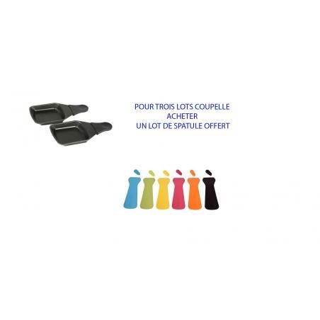 Lot de 6 Coupelles Carrées  pour raclette Tefal XA400202 un lot spatule offert XA900203