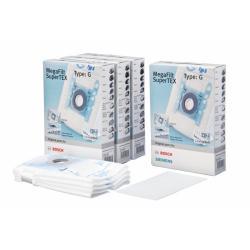 4 boîtes de sacs aspirateur avec fermeture hygienique type G BBZ41FG - VZ41FG bosch siemens 00468383 00576334