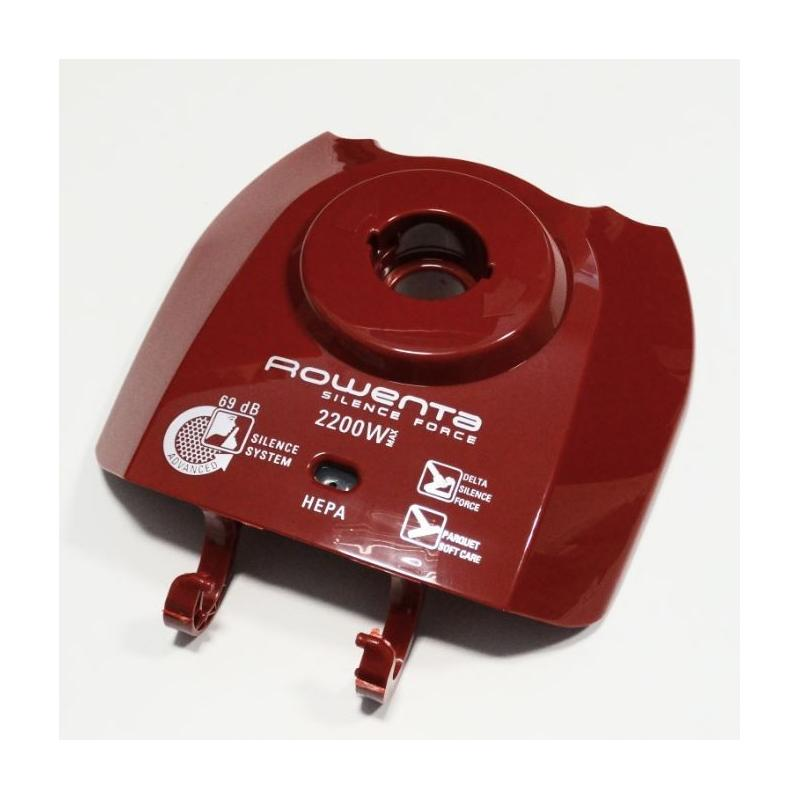 Couvercle complet rouge aspirateur Rowenta Silence Force ref : RS-RT3217