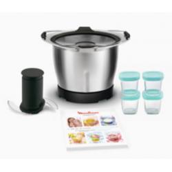 Mini Bol cuve 4 pots bébé avec 20 recettes Robot Companion Moulinex XF387E10
