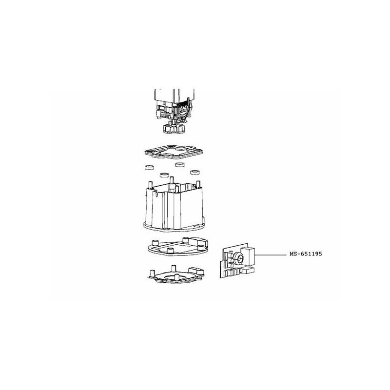 Carte electronique Blender Moulinex Haute Vitesse Ultrablend MS-651195