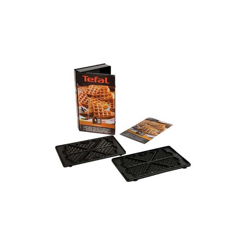 Coffret de 2 plaques gaufre coeur + 1 livre de recettes pour gaufrier Snack Collection XA800612