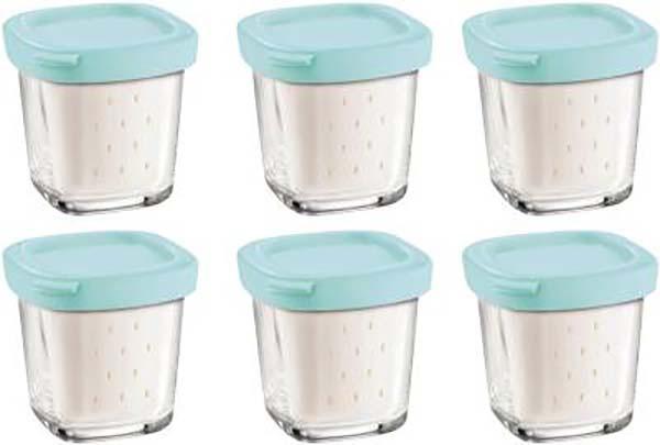 pots yaourt egouttoir x6 pour yaourtiere multidelice seb xf100101