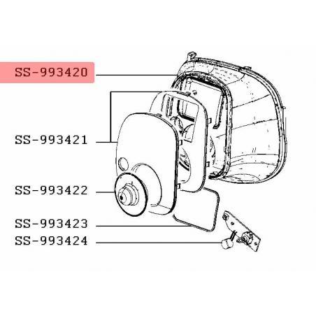 Enjoliveur cuiseur programmable cookeo moulinex SS-993420