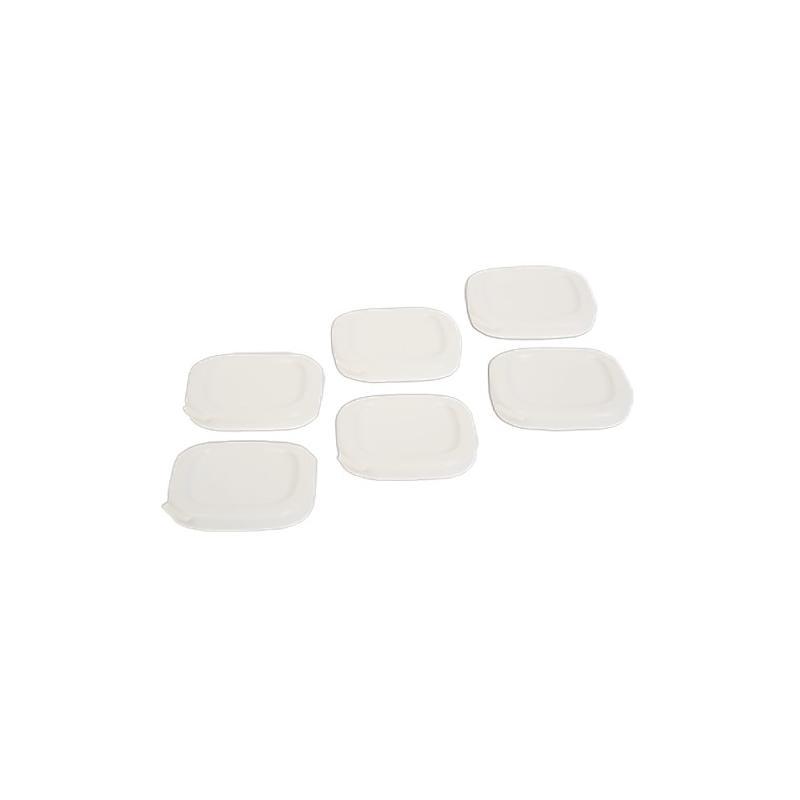 Lot de 6 couvercles blancs pot à yaourt Seb SS-194113