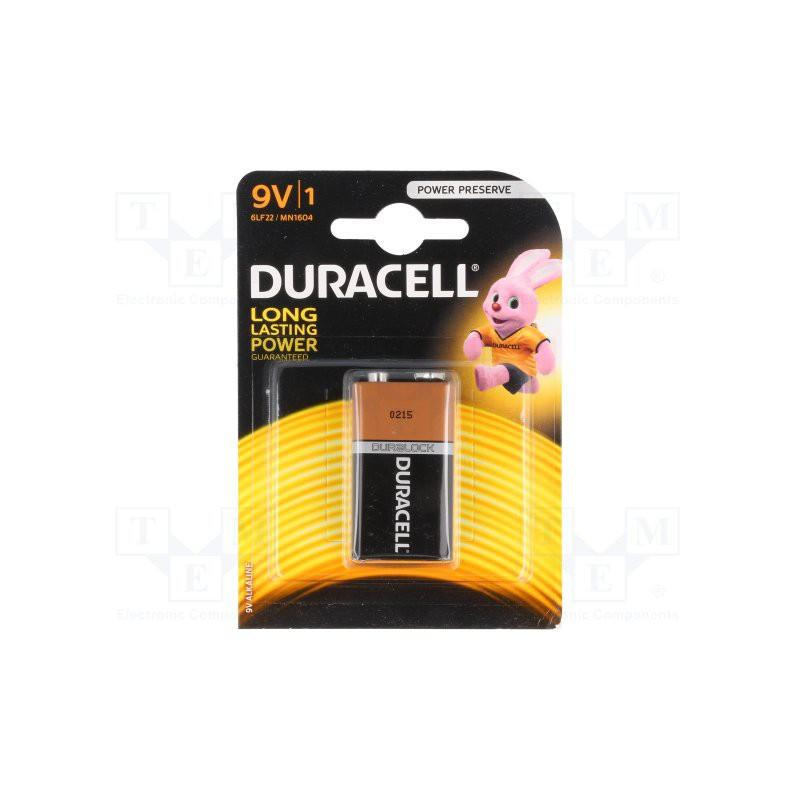 Pile alcaline Duracell  9V  6F22