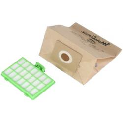 Sacs aspirateur x 10 avec 1 filtre Hepa MT000101