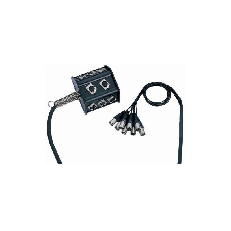 Boîtier de Scène 8 canaux 15 m Adam Hall Cables K 8 C 15 P
