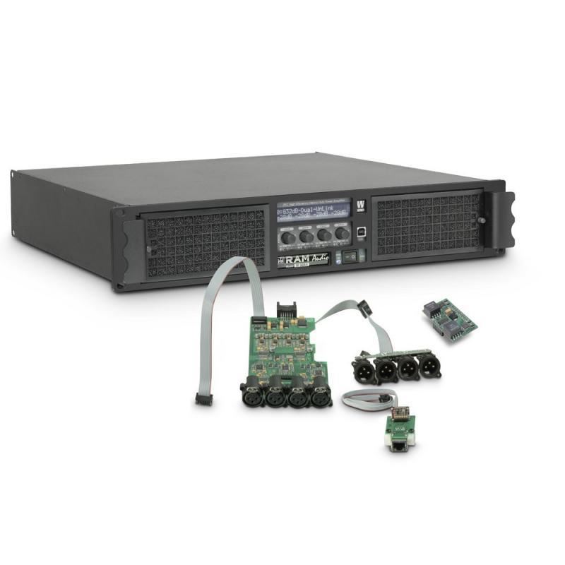 Amplificateur Sono 4 x 2200 W 4 Ohms Ram Audio W 9044 DSP E AES