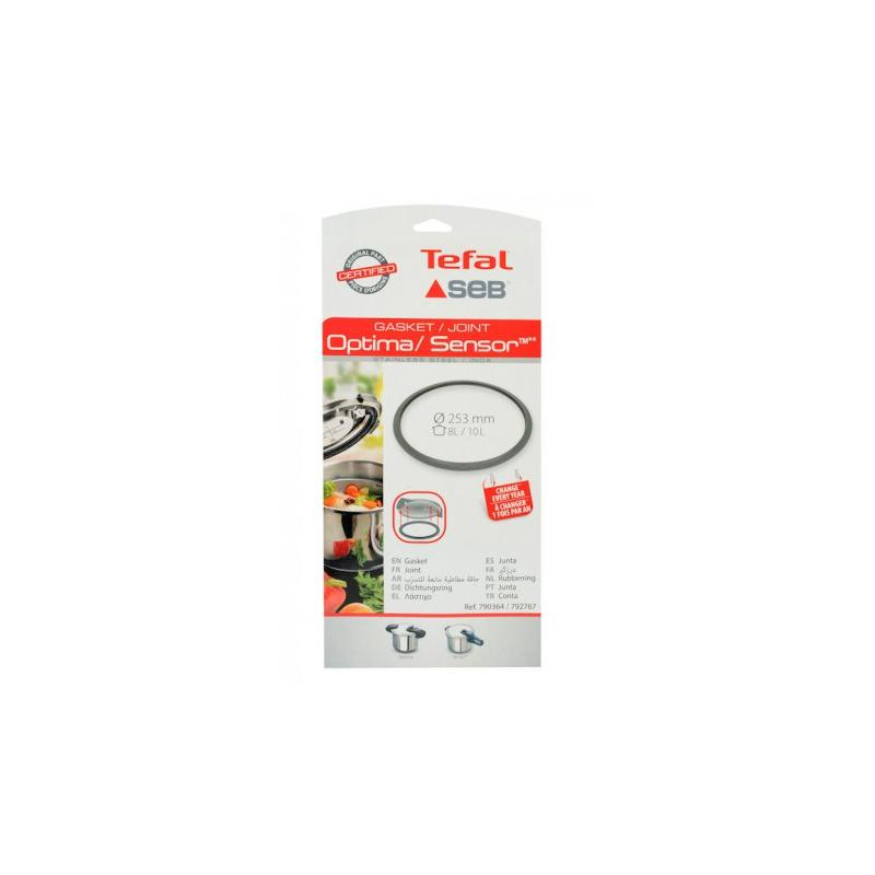 Joint cocotte Seb Optima / sensor  8/10L  diam 253 mm 790364