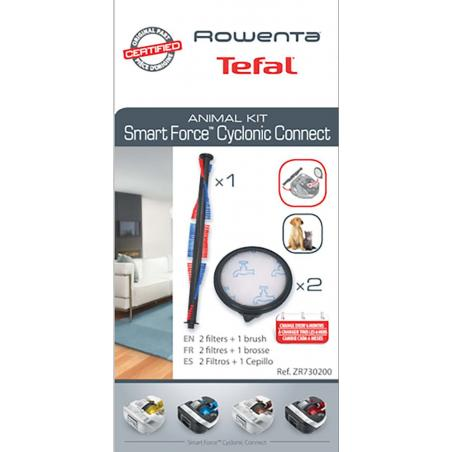 Brosse 2 filtres HOME CARE Aspirateur ROWENTA SMART FORCE CYCLONIC  ZR730100