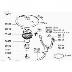 Chapeau de Globe Parasol Chauffant Sun Force Campingaz 68009