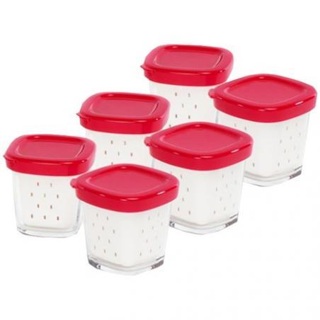 Pots yaourt avec égouttoir x6 pour yaourtiere multidelice Seb XF100101