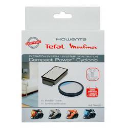 Cassette filtre + filtre rond aspirateur compact power cyclonic ROWENTA ZR005901
