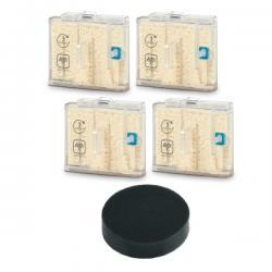 4 Cartouches anticalcaire et 1 filtre pour Clean & Steam Multi Rowenta ZR850001