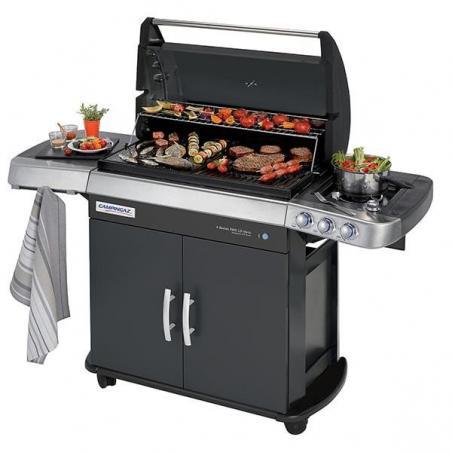 Plaque de Cuisson en Fonte brillante réversible Barbecues 4 SERIES Campingaz 5010001677