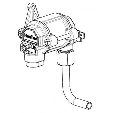 Vanne gaz avec raccord refrigerateur Dometic ref : 241279831/2