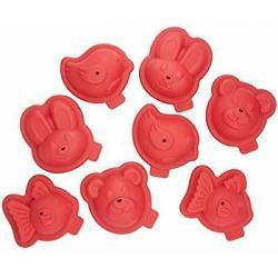 Coffret 8 moules animaux 3D...