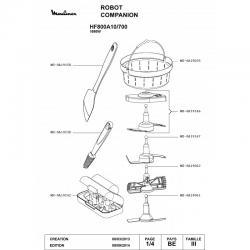Boite de rangement accessoires robot cuiseur Moulinex Companion ref : MS-0A19242