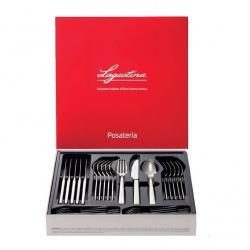 Ménagère de 24 pièces en INox 18/10 pour Ustensile de Cuisine Lagostina ref : 014424650524