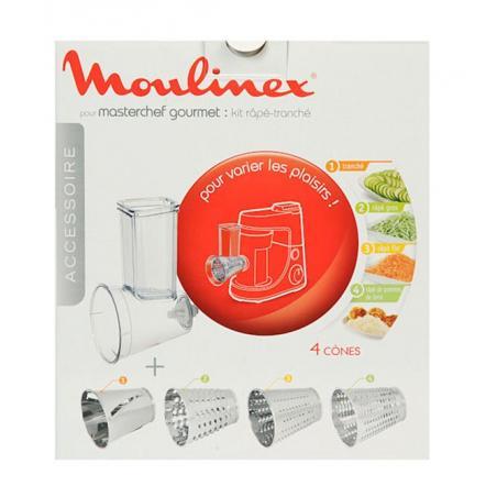 Kit Râpé-Tranché - Accessoire pour Robot Pâtissier Masterchef Gourmet Moulinex XF6320B1