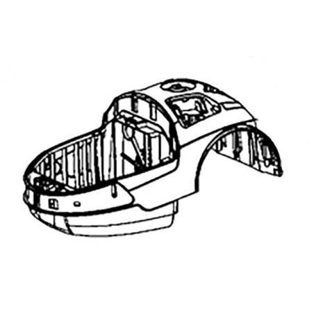 Demi boitier superieur rouge Rowenta RS-RT3814